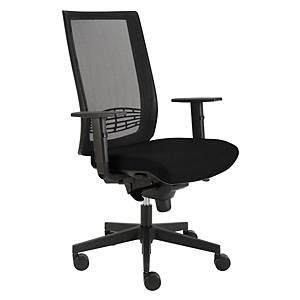 Alba Kent kancelárska stolička, sieť, čierna