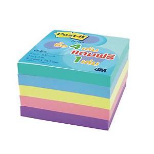 POST-IT กระดาษโน้ต 654-VAD 3 x3  คละสีพาสเทล แพ็ค 5 เล่ม