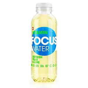 Vitaminwasser Focus Water, Birne & Limette, Packung à 12 Flaschen