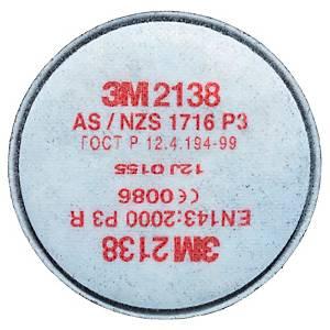 Pack de 20 filtros 3M 2138 P3R