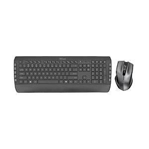 Conjunto de teclado y ratón inalámbricos Trust Tecla-2 - negro