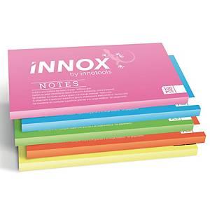 Innox sähköstaattiset viestilaput 20x10cm värilajitelma, 1 kpl=5 nidettä