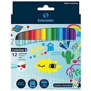 Fixy Schneider Colorina B fixy, mix barev