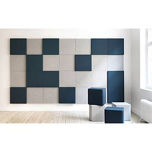 Vægpanel Abstracta Soneo, lysegrå, 50 x 50 x 10 cm