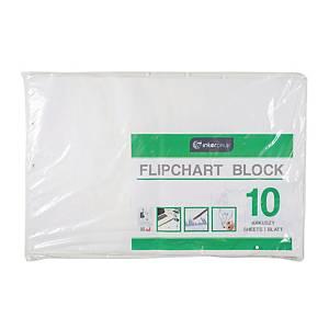 Blok do flipchartów INTERDRUK biały, gładki, 10 kartek