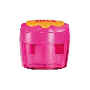 PELIKAN DBLE SHARPENER LOOSE FLOWER PINK