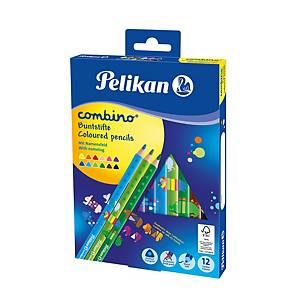 Farebné ceruzky Pelikan Combino, mix farieb