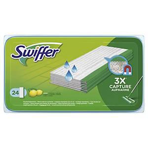 Lingettes de sol mouillées Swiffer, le paquet de 24