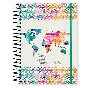 Agenda Oxford Travel - día página - 150 x 210 mm - colores surtidos