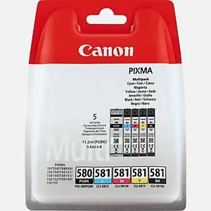 Canon PGI-580/CLI-581 Inkjet Cartridge B/Y/C/M