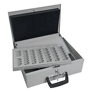 Geldkassette Wedo 150100837, Maße: 355 x 275 x 100mm, lichtgrau