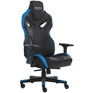 SANDBERG VOODOO GAMING CHAIR BLACK/BLUE