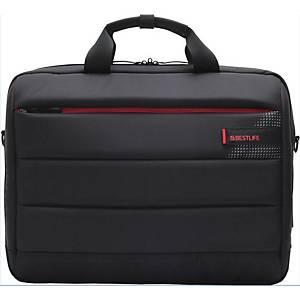 """BESTLIFE 15,6"""" divatos laptop táska, USB és Type-C adapterrel, fekete"""