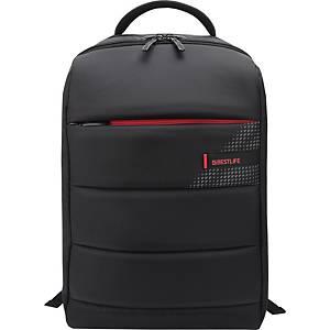 """BESTLIFE 15,6"""" divatos laptop hátizsák, USB és Type-C adapterrel, fekete"""