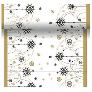 Duni snow necklace poikkiliina valkoinen 0,4 x 4,8m