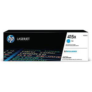 HP 415X W2031X laservärikasetti syaani