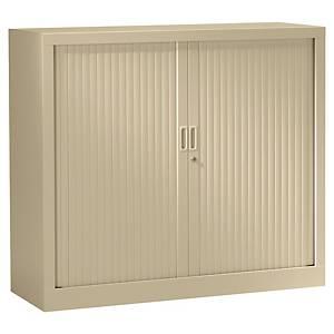 Armoire à rideaux monobloc Pierre Henry - 100 x 120 cm - beige
