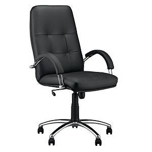 Fotel NOWY STYL Zenit Steel, skóra, czarny