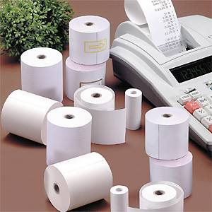 Pack 10 rollos papel térmico calculadora 57mmx25m sin BPA