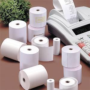 Pack 10 rollos papel termico calculadora 57mm x 12m sin BPA