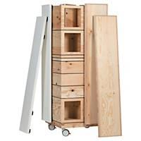 Kit mobilier de bureau Bene Pixel - pin/noir/blanc