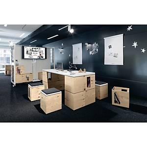 Table bureau Bene Pixel - 180 x 72 cm - pin/blanc