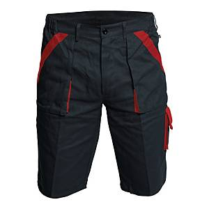 Szorty CERVA Max, czarno-czerwone, rozmiar 48