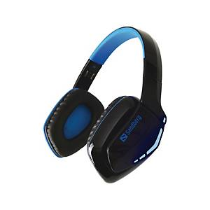Headset, Sandberg Blue Storm, trådløs, sort og blå