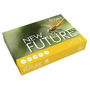Papir til sort/hvid-print New Future Lasertech, med hul, A4, 80 g, 500 ark