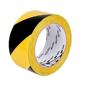 3M™ 766i jelölőszalag vinilből, 50 mm x 33 m, sárga/fekete