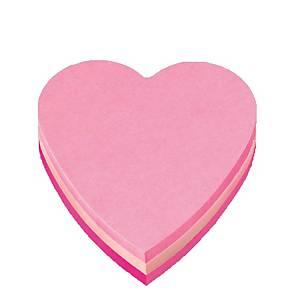 Post-it 2007H viestilappu sydän 3 pinkin sävyä