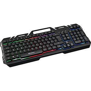 Tastatur Sandberg 640-14 IronStorm Keyboard, nordisk, sort