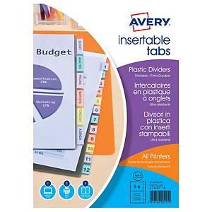 ITRAC 6533 6-PART INDEX PVC