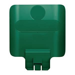Cartello raccolta differenziata Rubbermaid Recycling Station Slim Jim® verde