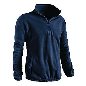 Pile collo alto mezza zip blu navy tg L