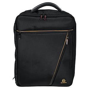Exacompta Exactive 17734E Dual rugzak, voor laptop tot 15,6 inch, zwart