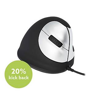R-Go HE Ergonomic Mouse Right-Hand Wired Medium (165-195mm)