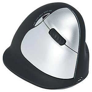 Souris ergonomique sans fil R-Go Tools HE - large - droitier - noir/argent