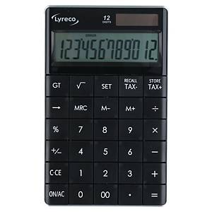LYRECO DESK CALCULATOR 12 DIGIT BLACK