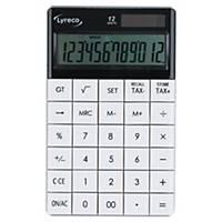 Calculatrice Lyreco, affichage de 12chiffres, blanc