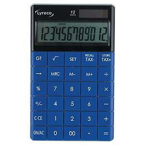LYRECO DESK CALCULATOR 12 DIGIT BLUE