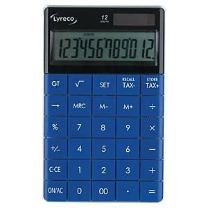 Lyreco asztali számológép, 12 számjegyű kijelzővel, kék
