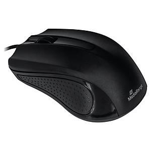 Mediarange muis met draad, medium, zwart