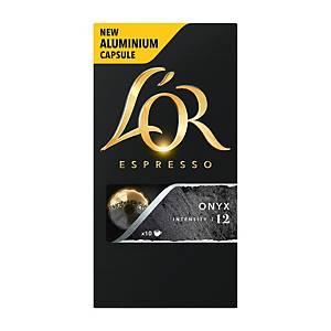 Kávové kapsuly L OR Espresso Onyx, 10 kapsúl