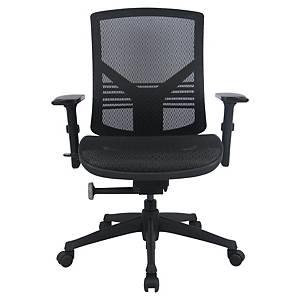 Fauteuil de bureau Management Chair, mécanisme synchrone, tissu maillé, noir
