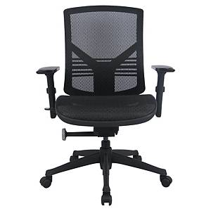 SYNCHRON MANAGEMENT CHAIR W/ARMRESTS BLK