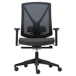 SYNCHRON MESH CHAIR W/ARMRESTS BLK