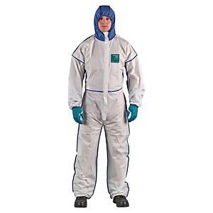 Tuta di protezione monouso Ansell Alphatec® 1800 Comfort bianco/blu tg XL
