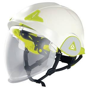 Deltaplus Onyx veiligheidshelm met dubbele schelp en vizier, wit