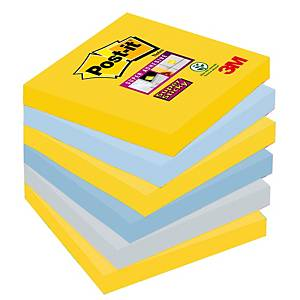 Haftnotizen Post-it Super Sticky, 76x76mm, NY, Packung à 6 Stück
